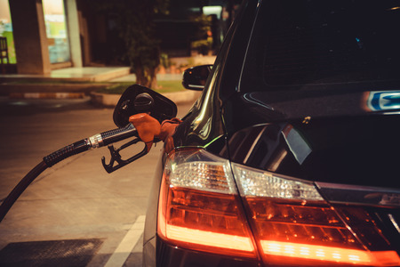 Close up refuel energy of the car.