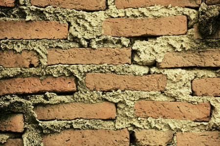 construction: Red brick wall Stock Photo