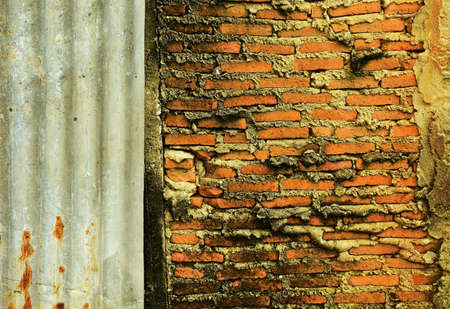 red wall: Red brick wall Stock Photo