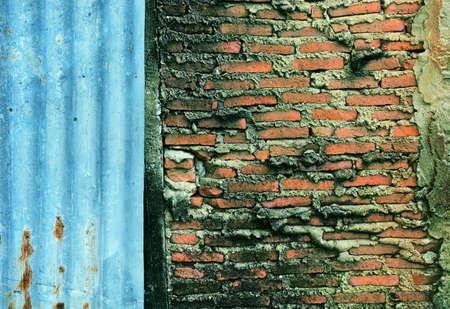 black white red: Red brick wall Stock Photo