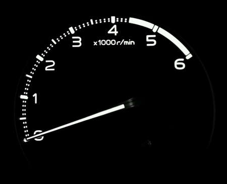 tachometer: Tachometer gauge in car Stock Photo