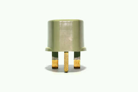 plug socket: Plug socket adapter isolated on white background. Stock Photo
