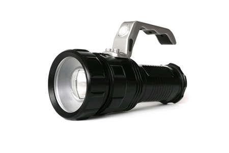 isolated: Flashlight isolated on white colored background Stock Photo