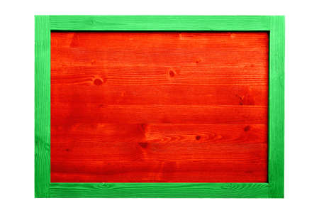 Wood frame for decorative text and image. Stock Photo