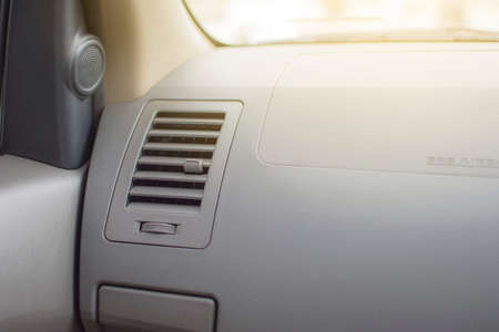 Air conditioner. the air flow inside the car. Banque d'images