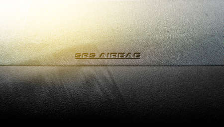 SRS Airbag icon in car.  Banque d'images