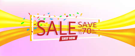 Super sale concept, Discount save up to 70% off. Vector illustration design. EPS10 Vectores