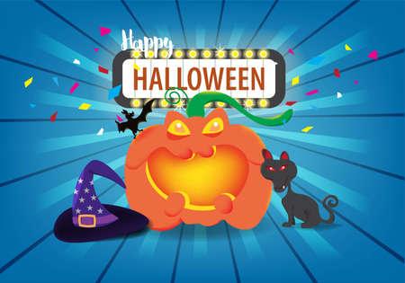 Concepto de celebración del día de Halloween, diseño de ilustración vectorial. Ilustración de vector