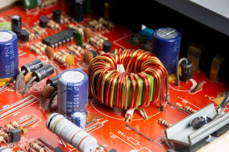 Electromagnetic coil on electronic circuit board
