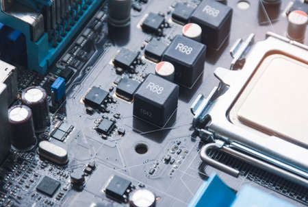 Molding power choke and electronics component on motherboard of personal computer