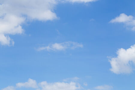 blue sky background with tiny clouds Stock Photo - 30702311