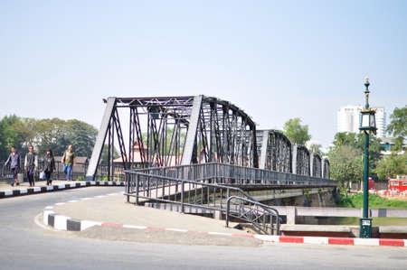 steel: Steel Bridge in Chiangmai , Thailand Stock Photo