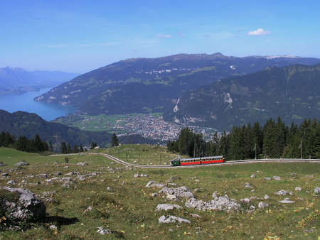 Schynige plate rail above Interlaken photo