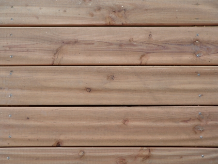 Wooden boards of a terrace