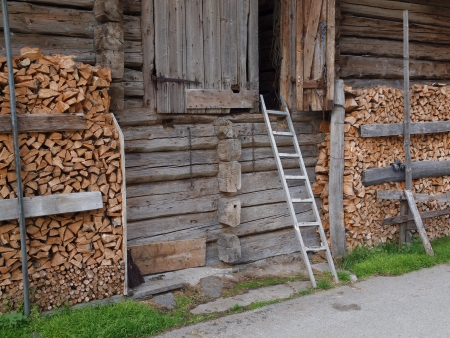 Barn wood storage for the winter