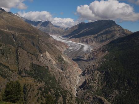 aletsch: Aletsch glacier with Bettmeralp and Eggishorn from Belalp