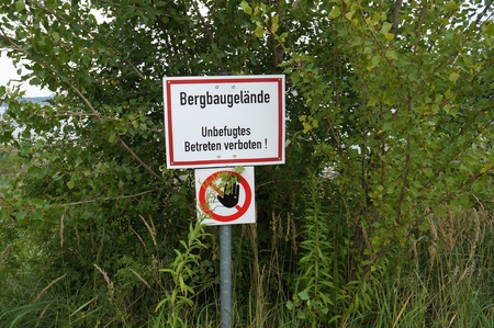 reclamation: Sign mining site