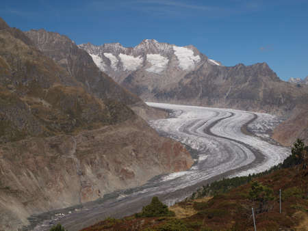 aletsch: View from Hohfluh Stock Photo