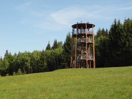 erzgebirge: Tower in Baerenstein Stock Photo