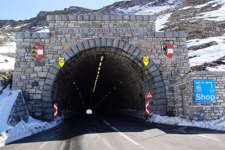 tunnel portals: Grossglockner High Alpine Road Tunnel portal Hochtor Stock Photo