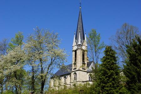 erzgebirge: Rechberger Church in Spring