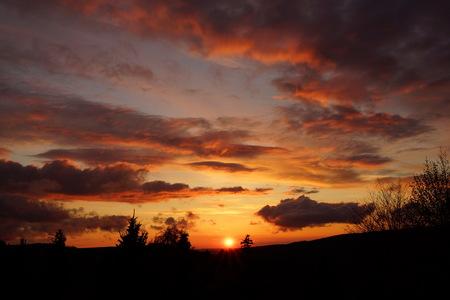 erzgebirge: Sunset in the Erzgebirge