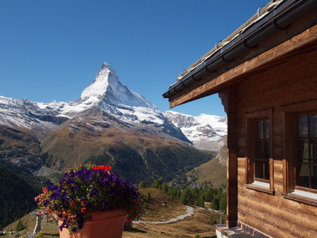 matterhorn: View of the Matterhorn Stock Photo
