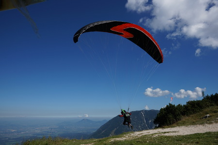 Paraglider on the pulpit