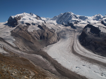 View from Gornergrat to Monte Rosa