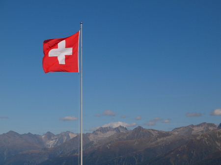 Flag and coat of arms of Switzerland