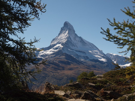 matterhorn: View from Sunnegga to the Matterhorn