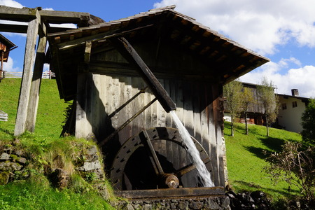 Mill at the Trattenbach Stock Photo
