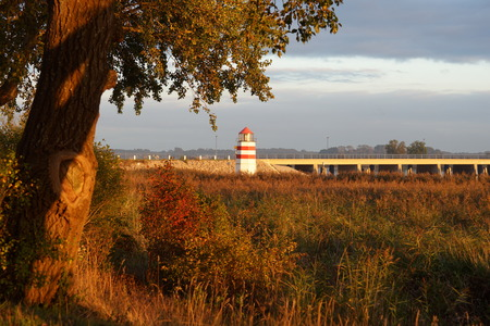Lighthouse and bridge on Ummance