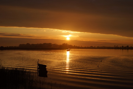 Sunset over the Bodden