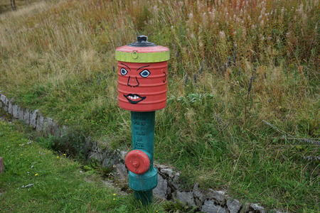colored Hydrant in the Black Forest