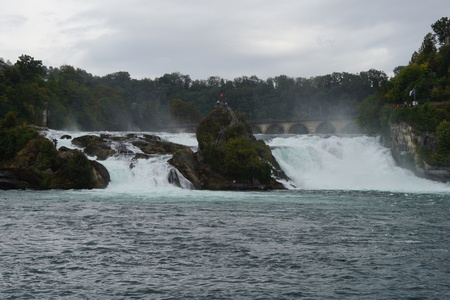 View to the Rhine Falls