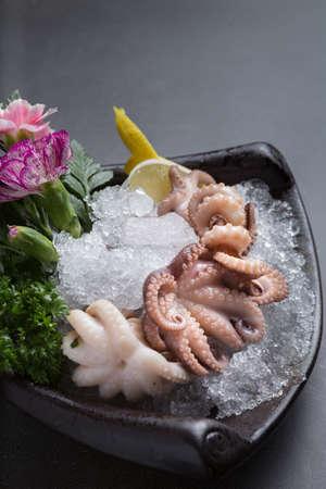 Japanese cuisine squid rolls