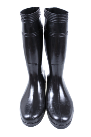 rubber boots isolate on white photo
