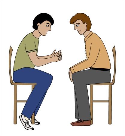 Two men having an interesting conversation