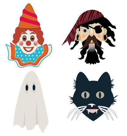 Kid s Halloween masks Stock fotó - 22118527