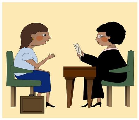 Un juge et un avocat de discuter des questions juridiques Banque d'images - 27462711