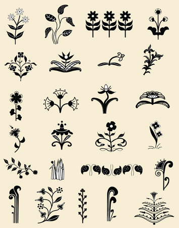 Classic, useful, original ornaments for any application- patterns, borders etc Stock fotó - 30864827