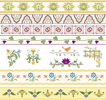 A beautiful collection of floral type ornaments especially for use with text Stock fotó - 32366738