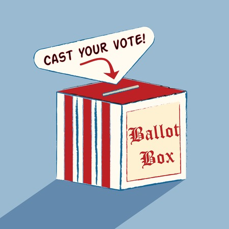 voter: A colorful box to encourage the voter