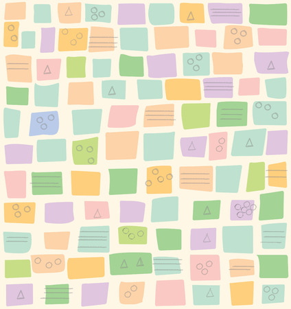Colorful, Spring or Summer soft pattern for background or alone Ilustrace