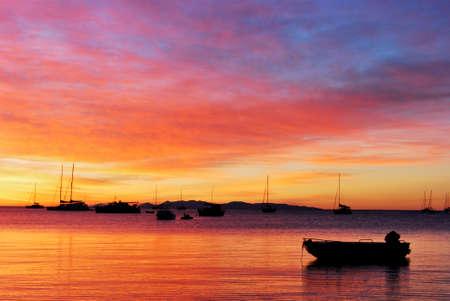 Amazing sunset on Magnetic Island, Queensland, Australia photo