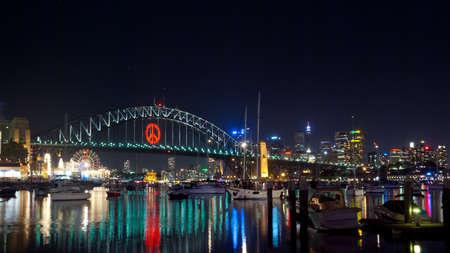 Sydney Harbour Bridge by night
