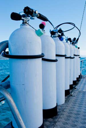 oxigen: Oxygen tanks Stock Photo