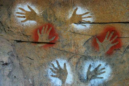 oz: Aboriginal paintings - Australia Stock Photo