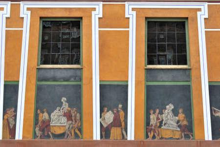 friezes: Friezes detail on Thorvaldsens Museum, Copenhagen